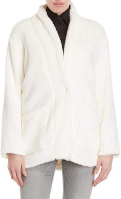 Kensie Shawl Collar Sherpa Cardigan