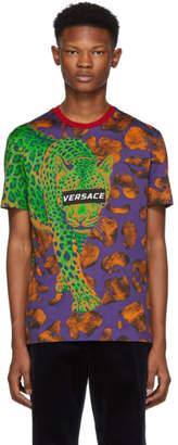 Versace Multicolor Leopard T-Shirt