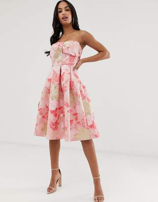 Naf Naf romantic skater dress with butterfly print