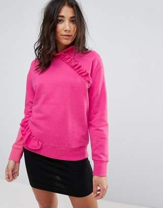 Miss Selfridge High Neck Ruffle Sweater