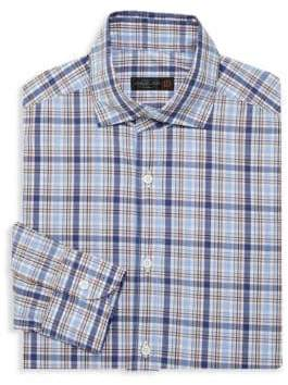 Corneliani Plaid Cotton Dress Shirt