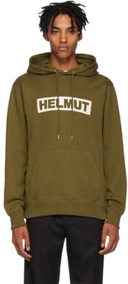 Helmut Lang Khaki Logo Hoodie