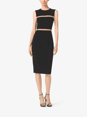 Michael Kors Wool-Crepe Sheath Dress