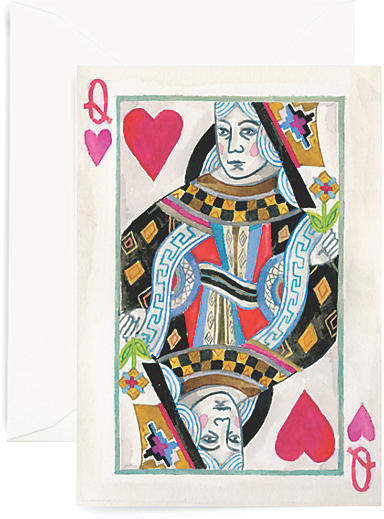 Set of 8 Queen Of My Heart Greeting Cards