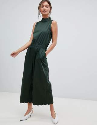 Ted Baker High Neck Scalloped Jumpsuit