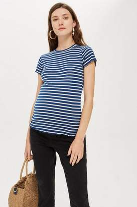 Topshop **Maternity Lettuce Striped T-Shirt