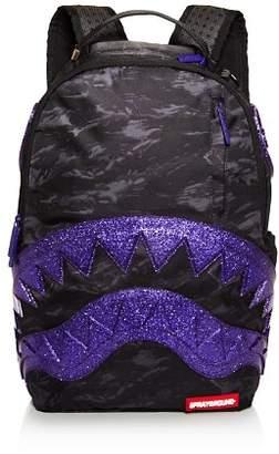 Sprayground Camo-Print Glitter Shark Backpack