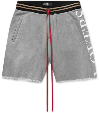 Amiri Printed Mélange Loopback Modal And Cotton-Blend Jersey Drawstring Shorts