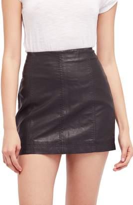 Free People Modern Femme Faux Leather Miniskirt