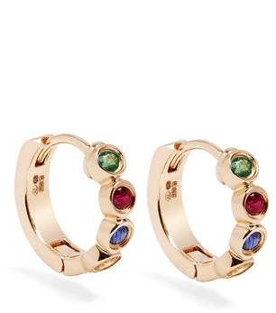 Alison Lou Sapphire, Ruby, Emerald & Gold Twister Earrings - Womens - Yellow Gold