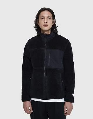 Penfield Mattawa Fleece Zip-Up Jacket in Black