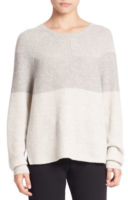 Vince Colorblock Ribbed Sweater $275 thestylecure.com