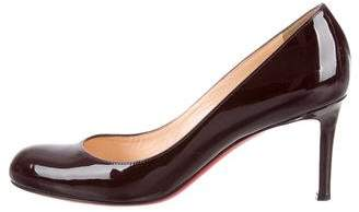 Christian Louboutin Patent Leather Semi Pointed-Toe Pumps