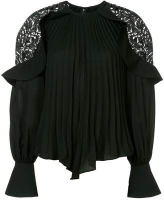 Self-Portrait pleated blouse