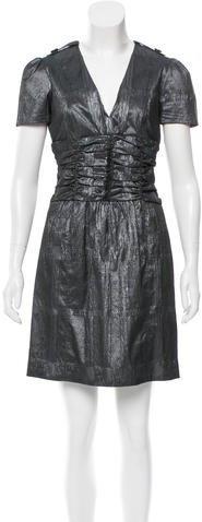 Burberry Burberry Metallic Nova Check Dress
