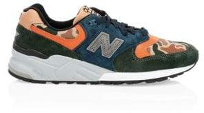 New Balance 999 Made In The USA Suede & Leather Sneakers