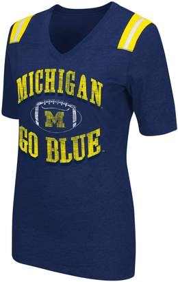 NCAA Women's Campus Heritage Michigan Wolverines Distressed Artistic Tee