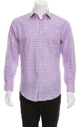 Neiman Marcus Plaid Button-Up Shirt
