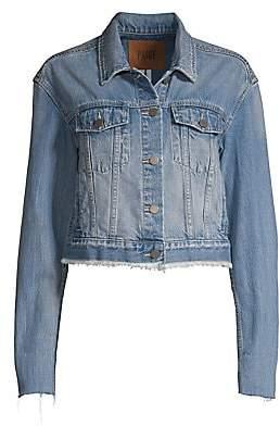 6af0f8727 Women's Jo Jo Distressed Hem Cropped Jean Jacket
