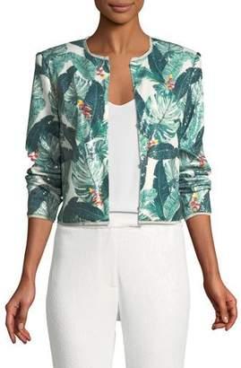 Rachel Zoe Aliza Sequin Palm-Print Jacket