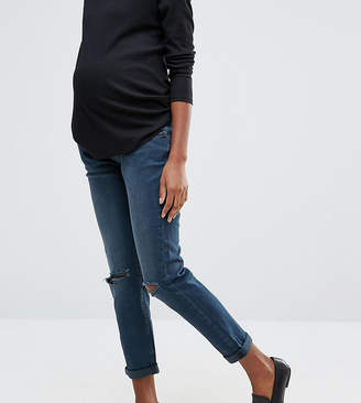 Asos Kimmi Boyfriend Jeans In Grace Wash With Over The Bump Waistband