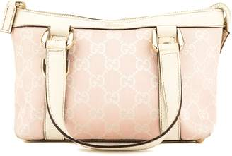Gucci Pink and White GG Monogram Small Abbey Tote (3956013)