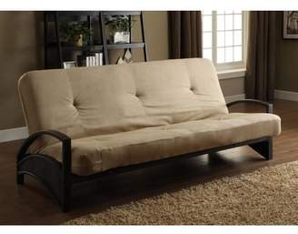DHP Alessa Black Metal Futon Frame with Coil Full Futon Mattress, Multiple Colors and Sizes