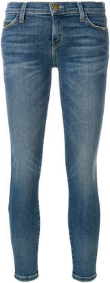 Current/Elliott faded cropped skinny jeans