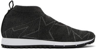 Jimmy Choo Black and Grey Norway/M Sneakers
