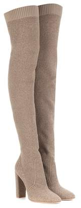 Gianvito Rossi Isa knit over-the-knee boots