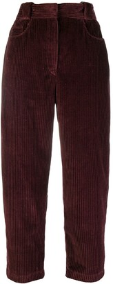 Cédric Charlier cropped corduroy trousers