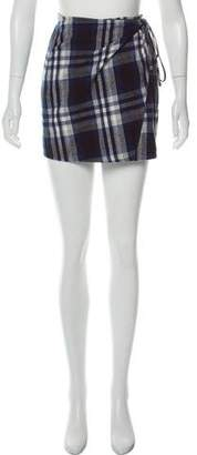 3x1 NYC Plaid Mini Wrap Skirt