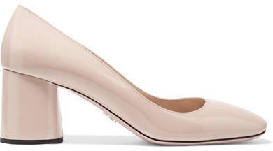 Prada - Patent-leather Pumps - Pastel pink