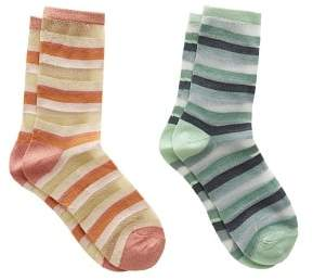 MANGO Striped ankle socks pack