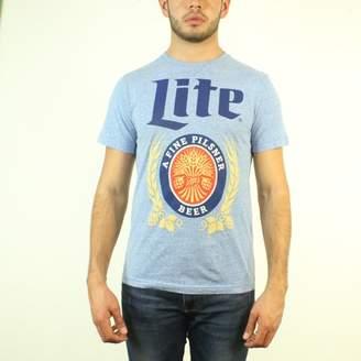 Miller Lite Logo a Fine Pilsher Beer Men's Blue T-shirt NEW Sizes S-2XL