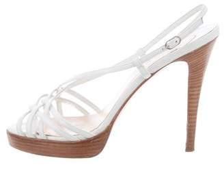 Christian Louboutin Leather Platform Sandals
