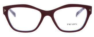 Prada Cat-Eye Oversize Eyeglasses