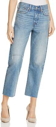 Levi's Wedgie Straight Selvedge Jeans in Tent Lyfe $158 thestylecure.com