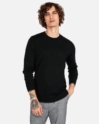 Express Cotton Tipped Crew Neck Sweater