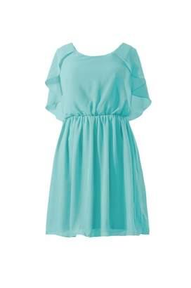Tiffany & Co. DaisyFormals reg; Scoop Neckline Party Dress Vintage Chiffon Bridesmaid Dress(BM1552 Blue