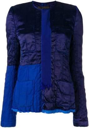 Haider Ackermann patchwork fitted jacket
