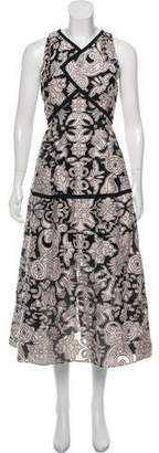 Roland Mouret Midi Embroidered Dress