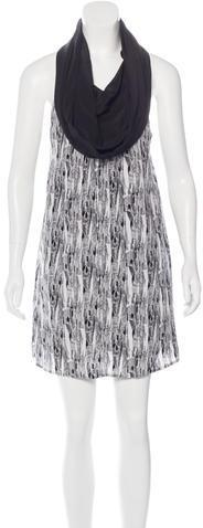 Alexander WangAlexander Wang Abstract Print Silk Dress