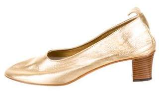 Golden Goose Metallic Leather Low-Heel Pumps