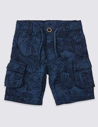 Marks and Spencer Linen Rich Cargo Shorts (3 Months - 7 Years)