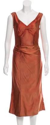 Miu Miu Silk Midi Dress