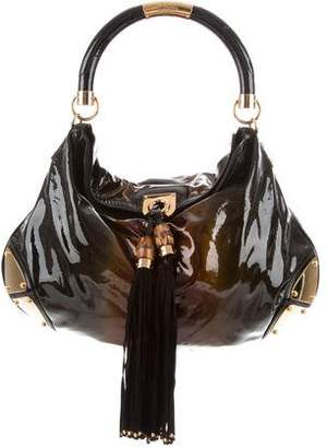 Gucci Large Patent Leather Indy Bag