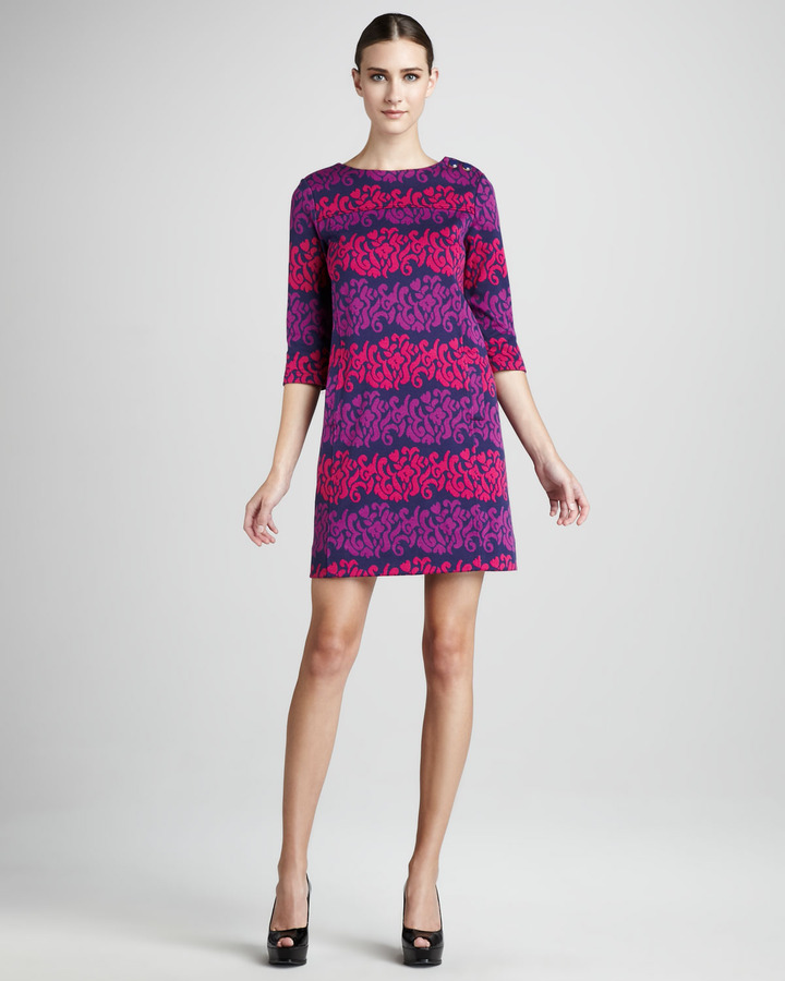 Lilly Pulitzer Navy-Print Dress