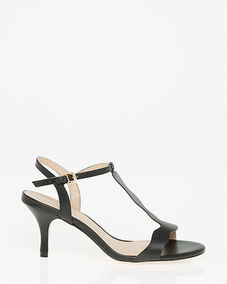 Le Château Brazilian-Made Leather-Like T-Strap Sandal