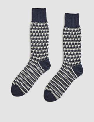 Nordic Chup Forest Knit Socks in Slate Blue
